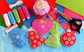 Елочные украшения из фетра: делаем вместе с детьми