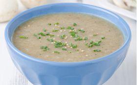 Ячневый суп с шампиньонами