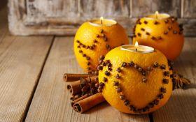 Чайные свечи в апельсиновых подсвечниках. Мастер-класс