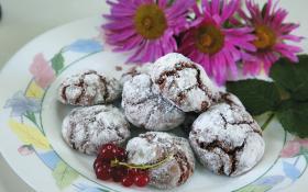 Треснутое шоколадное печенье