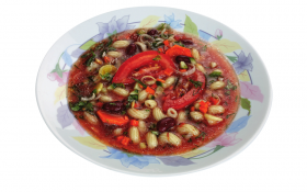 Фасолевый суп с макаронами