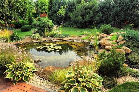 Гостеприимный оазис: выбираем место, размер и стиль декоративного водоема
