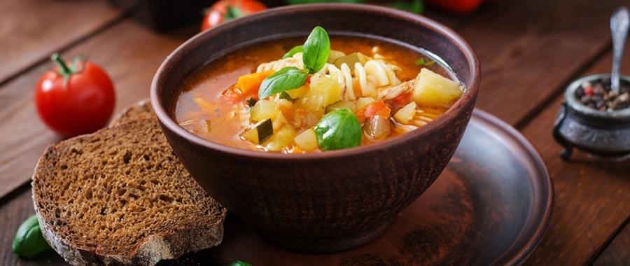 Минестроне из овощей и пасты