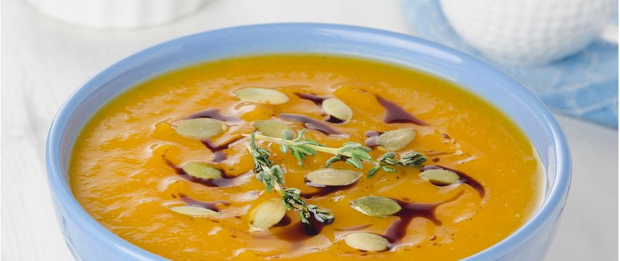 Тыквенный суп с ветчиной