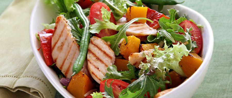 Теплый салат с тыквой