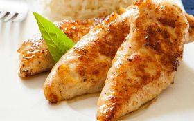 Куриное филе с фетой и гарниром