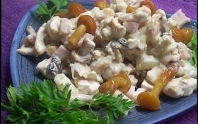 Салат из маринованных опят
