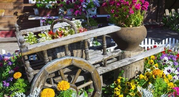 Стилистика цветников: садик в стиле кантри
