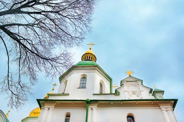 У православных верующих начинается Великий пост. Софийский Собор в Киеве