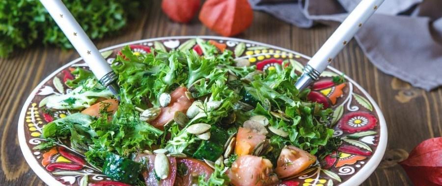 Салат с тыквенными семечками